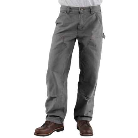 Carhartt Double-Front Dungaree Jeans - Washed, Factory Seconds (For Men) in Gravel - 2nds