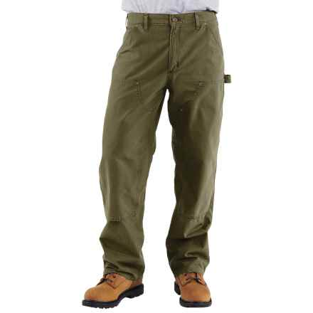 Carhartt Double-Front Dungaree Pants - Canvas, Factory Seconds (For Men) in Army Green - 2nds