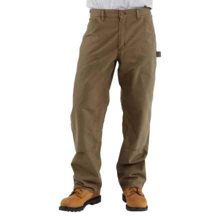Carhartt Double-Front Dungaree Pants - Canvas, Factory Seconds (For Men) in Light Brown - 2nds