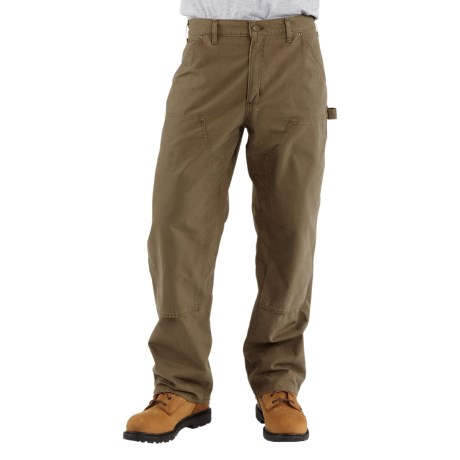 Carhartt Double-Front Dungaree Pants - Canvas, Factory Seconds (For Men) in Light Brown