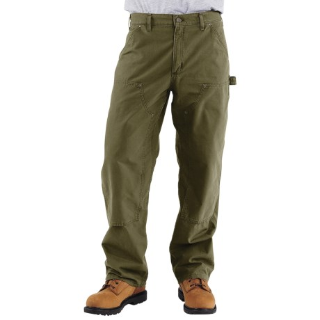 Carhartt Double-Front Dungaree Pants - Canvas (For Men) in Army Green