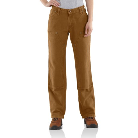Carhartt Double Front Jeans - Dungarees (For Women) in Carhartt Brown