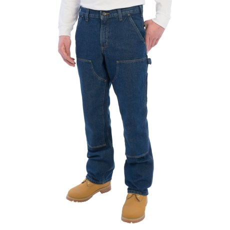 Carhartt Double-Front Logger Jeans - Relaxed Fit, Factory Seconds (For Men) in Dark Vintage Blue