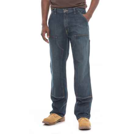 Carhartt Double Front Logger Jeans - Straight Leg, Factory 2nds (For Men) in Rinsed Indigo - 2nds