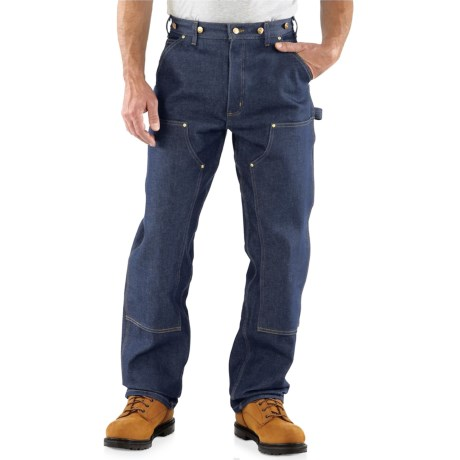 Carhartt Double Front Logger Pants - Factory Seconds (For Men) in Denim