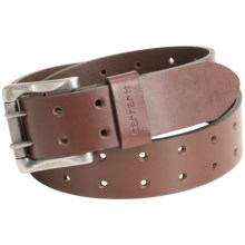 Carhartt Double-Prong Leather Belt (For Men) in Brown - Closeouts