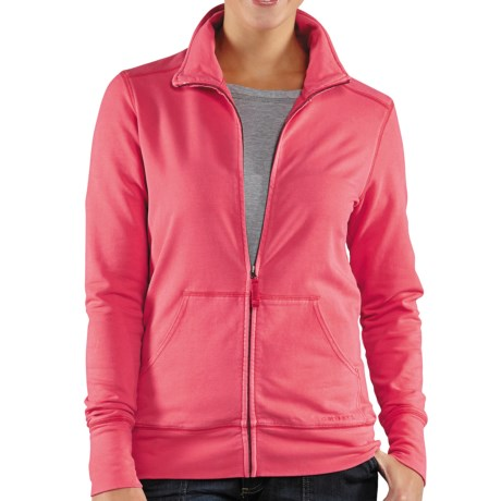Carhartt Dover Track Jacket - Mock Neck (For Women) in Bright Pink