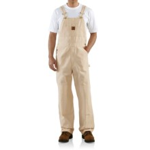 Carhartt Drill Work Bib Overalls - Unlined (For Men) in Natural - 2nds