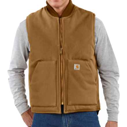 Carhartt Duck Arctic Vest Quilt Lined (For Tall Men) in Carhartt Brown - 2nds