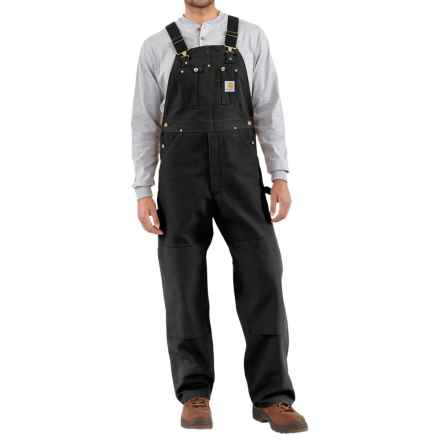 Carhartt Duck Bib Overalls - Factory Seconds (For Men) in Black - 2nds