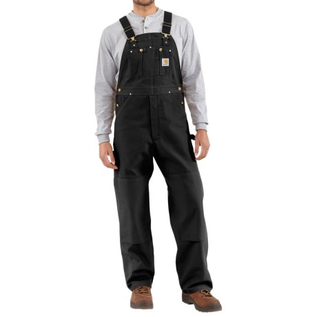 Carhartt Duck Bib Overalls - Factory Seconds (For Men) in Black