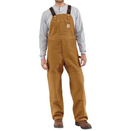 Carhartt Duck Bib Overalls - Factory Seconds (For Men) in Carhartt Brown - 2nds