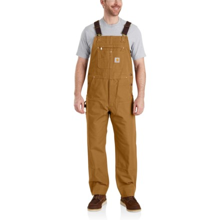 8c922cc5bd Carhartt Duck Bib Overalls - Factory Seconds (For Men) in Carhartt Brown