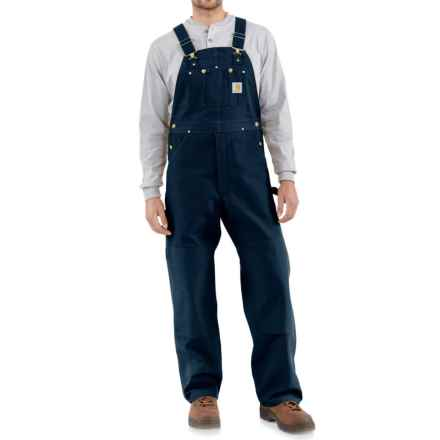 Carhartt Duck Bib Overalls - Factory Seconds (For Men) in Dark Navy - 2nds