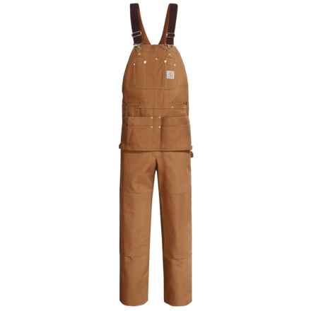 Carhartt Duck Carpenter Bib Overalls - Unlined, Factory Seconds (For Men) in Carhartt Brown - 2nds