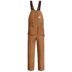 Carhartt Duck Carpenter Bib Overalls - Unlined (For Men) in Carhartt Brown