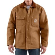 Carhartt Duck Chore Coat - Blanket Lined (For Men) in Carhartt Brown - 2nds