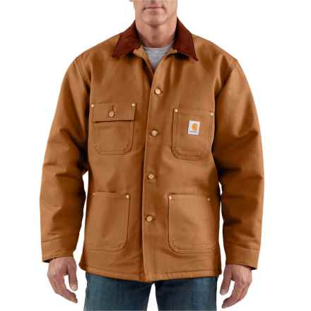 Carhartt Duck Chore Coat - Blanket Lined (For Tall Men) in Carhartt Brown - Closeouts