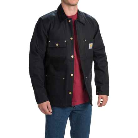 Carhartt Duck Chore Coat - Lined (For Men) in Black - 2nds