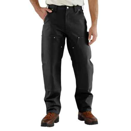 Carhartt Duck Jeans - Double Knees, Factory Seconds (For Men) in Black - 2nds