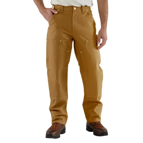 Carhartt Duck Jeans - Double Knees, Factory Seconds (For Men) in Carhartt Brown
