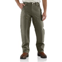 Carhartt Duck Jeans - Double Knees (For Men) in Moss - 2nds