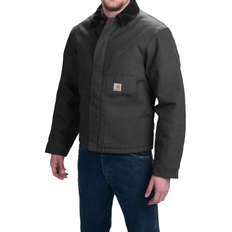 Carhartt Duck Traditional Jacket - Insulated, Factory Seconds (For Men) in Black