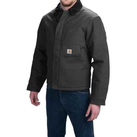 Carhartt Duck Traditional Jacket - Insulated (For Men) in Black - 2nds