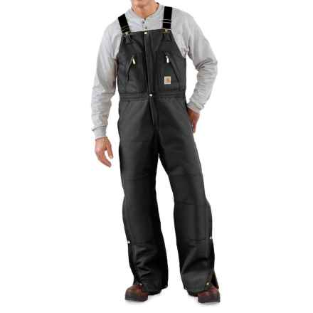 Carhartt Duck Zip-to-Thigh Bib Overalls - Factory Seconds (For Big and Tall Men) in Black - 2nds