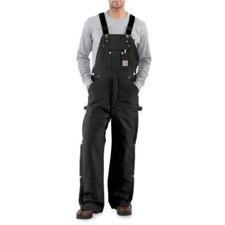 Carhartt Duck Zip-to-Thigh Bib Overalls - Factory Seconds (For Men) in Black - 2nds
