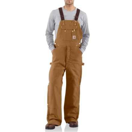 Carhartt Duck Zip-to-Thigh Bib Overalls - Factory Seconds (For Men) in Carhartt Brown - 2nds