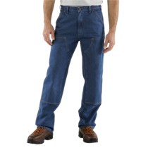 Carhartt Dungaree Jeans - Double-Front, Washed (For Men) in Dark Stone Wash - 2nds