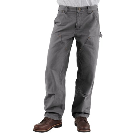 Carhartt Dungaree Jeans - Double-Front , Washed (For Men) in Gravel
