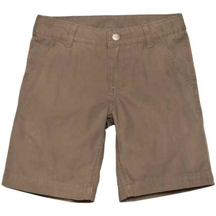 Carhartt Dungaree Shorts (For Little Boys) in Medium Brown - Closeouts