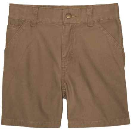 Carhartt Dungaree Shorts (For Toddler Boys) in Medium Brown - Closeouts