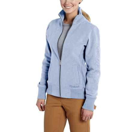 Carhartt Dunlow Sweatshirt - Full Zip (For Women) in Lapis Blue Heather - 2nds