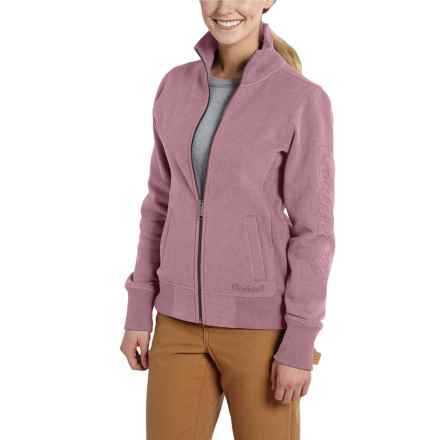 Carhartt Dunlow Sweatshirt - Full Zip (For Women) in Lilas Heather - 2nds