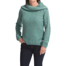 Carhartt Dutton Sweater - Cowl Neck (For Women) in Coast Blue Heather Multi - Closeouts
