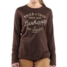Carhartt Edgewood T-Shirt - Long Sleeve (For Women) in Dark Brown - Closeouts