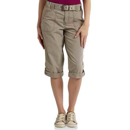 Carhartt El Paso Crop Pants - Relaxed Fit (For Women) in Field Khaki - 2nds