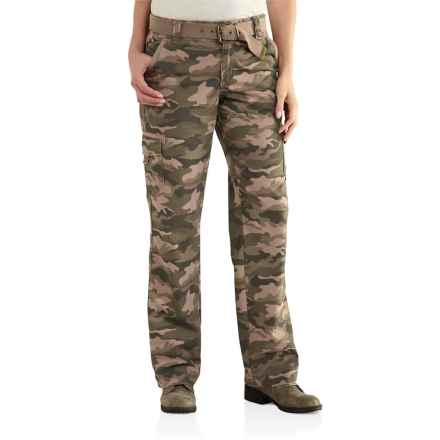 Carhartt El Paso Pants - Ripstop Cotton (For Women) in Camo Green - 2nds