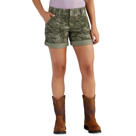 Carhartt El Paso Printed Shorts (For Women) in Olive