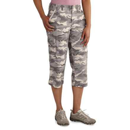 Carhartt El Paso Relaxed-Fit Camo Crop Pants (For Women) in Camo Gray - Closeouts