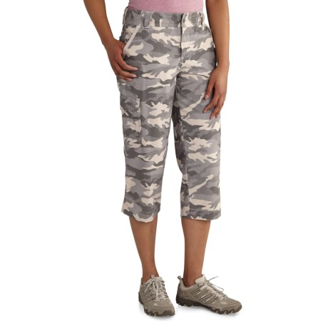 Carhartt El Paso Relaxed-Fit Camo Crop Pants (For Women) in Camo Gray