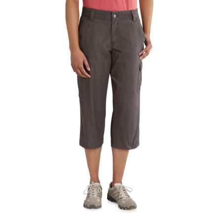 Carhartt El Paso Relaxed-Fit El Crop Pants (For Women) in Dark Shale - Closeouts