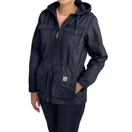 Carhartt El Paso Ripstop Utility Jacket - Hooded, Factory Seconds (For Women) in Deep Blue - 2nds