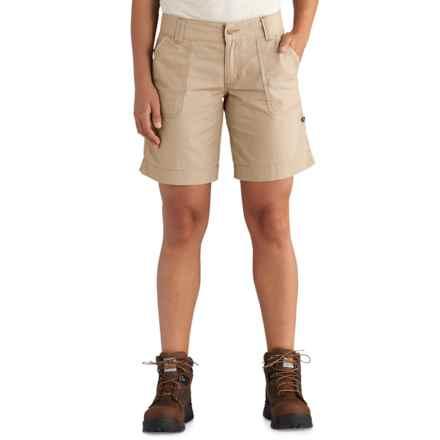 Carhartt El Paso Shorts (For Women) in Field Khaki - Closeouts
