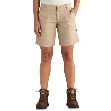 Carhartt El Paso Shorts (For Women) in Field Khaki - Closeouts