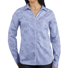 Carhartt Embroidered Woven Shirt - Long Sleeve (For Women) in Light Periwinkle - 2nds