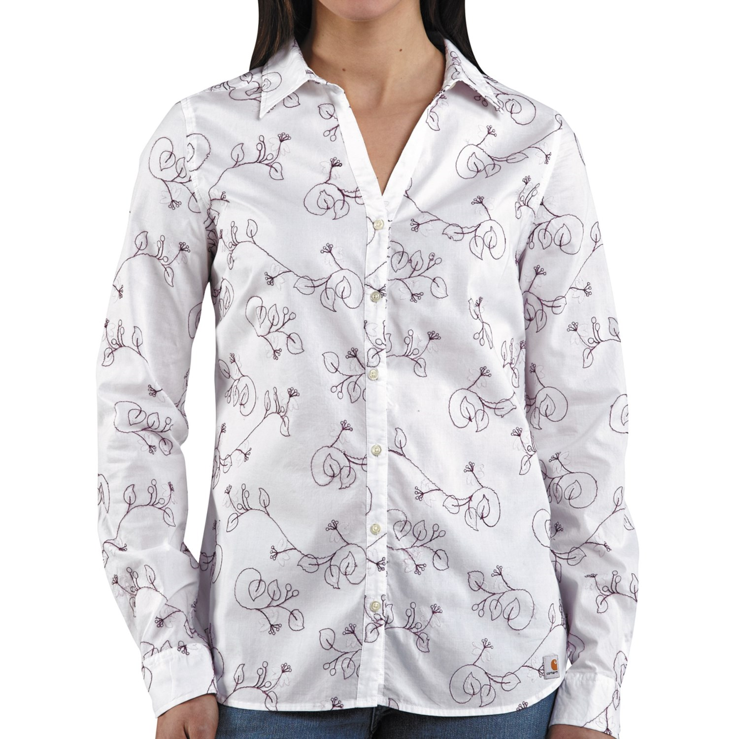 Carhartt embroidered woven shirt for women